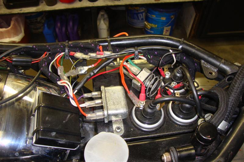 randy s cycle service restoration triumph trident trident new wiring harness installation