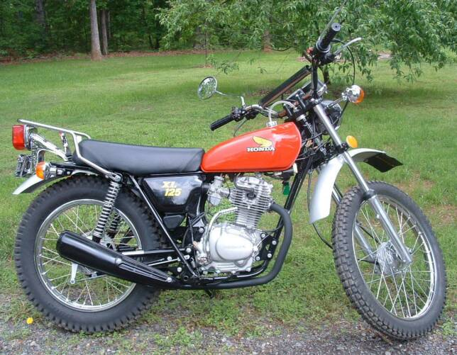 kayat kandi 1978 honda xl 125 photo. Black Bedroom Furniture Sets. Home Design Ideas